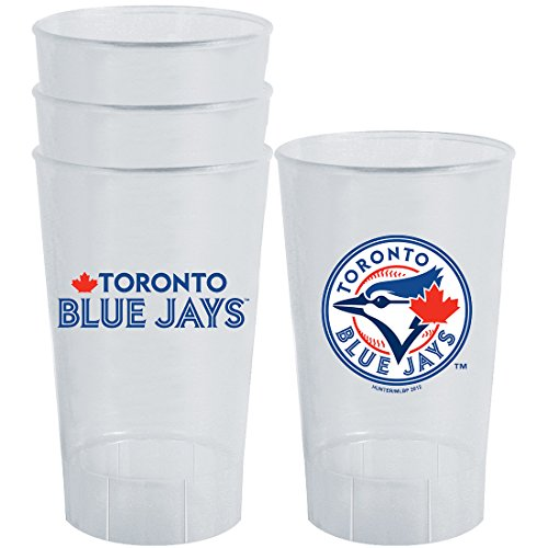 (MLB Toronto Blue Jays Plastic Tumbler (Pack of 4), 16 oz, White)