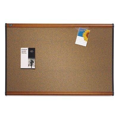 Quartet B244LC Bulletin Board, 4'x3', Light Cherry Frame