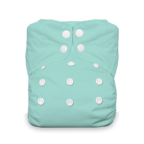 - Thirsties One Size All In One Cloth Diaper, Snap Closure, Aqua