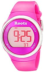 Roots Women's 1R-AT405PI1P Cayley Digital Pink Sport Watch