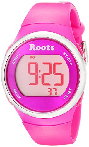 Roots Women's 1R-AT405PI1P Cayley Digital Pink Sport Watch (Roots Canada Watch)