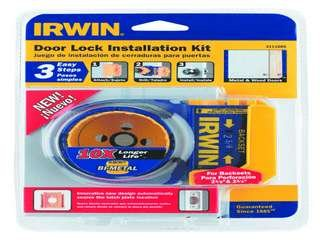 3111005 Irwin Door Lock Installation Kit for Metal and Wood Doors