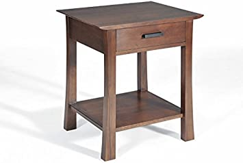 Amazon Com Gingko Home Furnishings Saito Asian Inspired Solid Walnut Side Table Night Stand Kitchen Dining