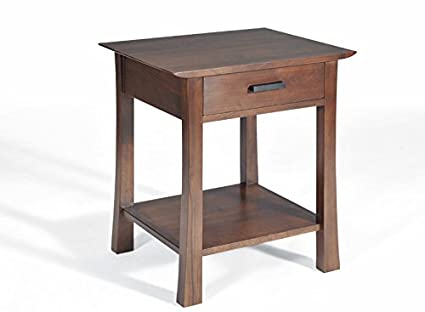 Superb Amazon Com Saito Asian Inspired Solid Walnut Side Table Onthecornerstone Fun Painted Chair Ideas Images Onthecornerstoneorg