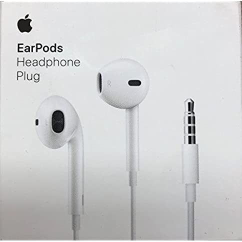- 41EMYLfeSOL - Apple EarPods in-Ear Earbuds with Mic and Remote Earbud Headphones iPhone iOS, White (Renewed)