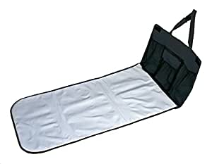 """J.L. Childress Pockets 'N Pad, Portable Diapering Station for Your Vehicle, Detachable Changing Pad, Pocket Panel for Storage, Fully Padded, X-Large Dimensions (36"""" x 18""""), Black"""