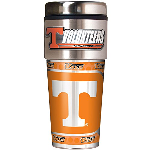 (Great American Products NCAA Tennessee Volunteers Metallic Travel Tumbler, 16-Ounce)