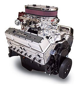 Edelbrock 46314 Performer 363 Hi-Torq Crate Engine 9.0:1 Compression 363HP/405 Torque Incl. RPM Air-Gap Dual-Quad Manifold/(2) 500 CFM ThunderSeries Carbs-1 Manual/1Electric EnduraShine Performer 363 Hi-Torq Crate Engine