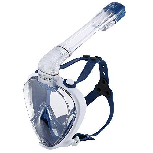 Aqua Lung Smart-Snorkel Full Face Mask, Blue/White, Large