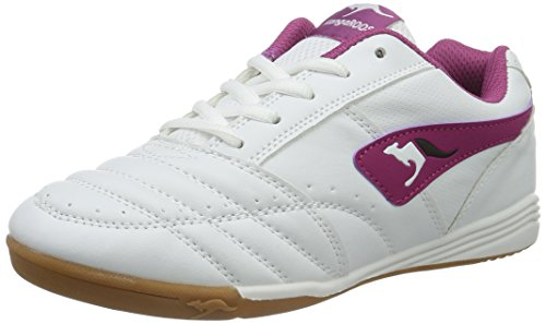 KangaROOS Power Court Lace - Zapatillas Unisex Niños Weiß (white/magenta 067)