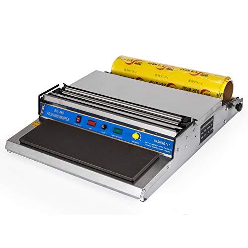 VEVOR Film Wrapper Machine 450 MM 18 Inch Countertop Film Wrapper Stretcher Film Wrap Sealer Hand Wrapping Machine for Food Packaging (450 MM Film Wrapper + 1 Roll Film)