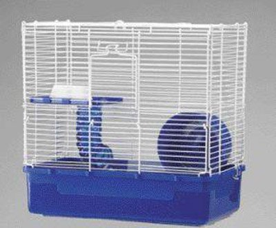 2 Level Ware Manufacturing Home Sweet Home Hamster Cage, 2 Level with Wire Top, 3-Pack, colors May Vary