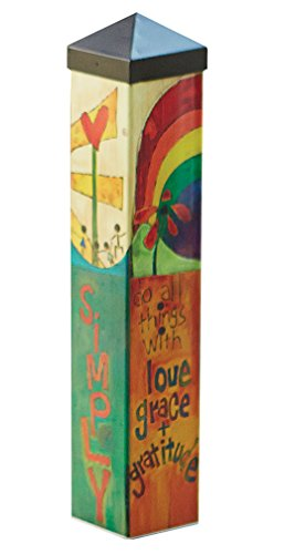 Cheap  Studio M Garden Art Pole Fade-Resistent Outdoor Décor , 20-Inches Tall, Live