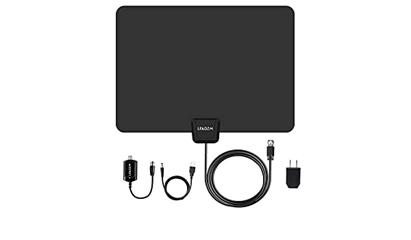Miles HD Digital TV Antenna 50 Mile Range Indoor TV Antenna TV Antenna Indoors Signal Booster Leadzm S108 Multi-Directional Capability All Free Channels