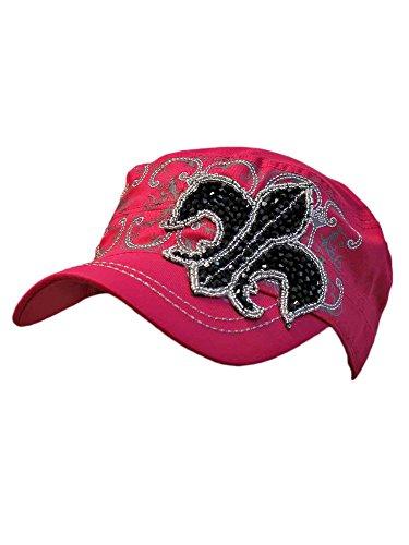 Pink Cotton Cadet Cap Hat...