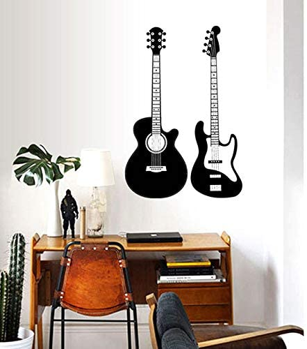 yaonuli Guitarra decoración de la Moda Pegatinas de Pared músico ...