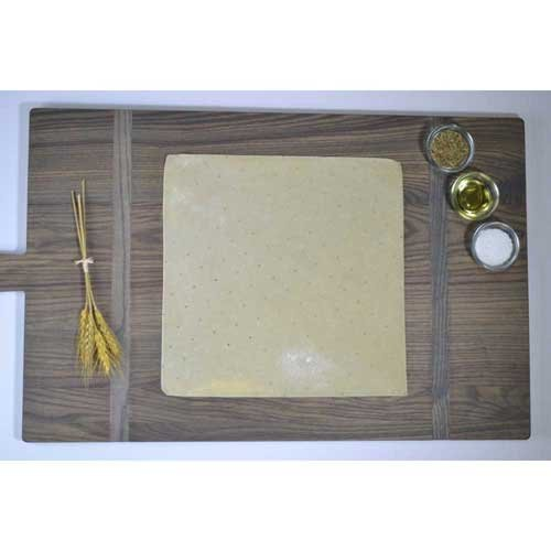 Ultra Thin Crust Par Baked Square Pizza Shell Flatbread, 12 x 12 inch -- 40 per case.