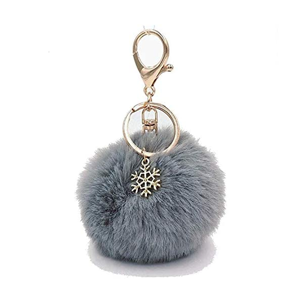 Pom Pom Keychain Artificial Fur Ball Keychain Fluffy Accessories Car Bag Charm