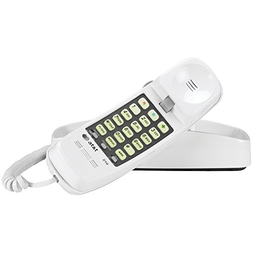 - ATT ATTML210W Corded Trimline(R) Phone with Lighted Keypad (White) electronic consumer Electronics