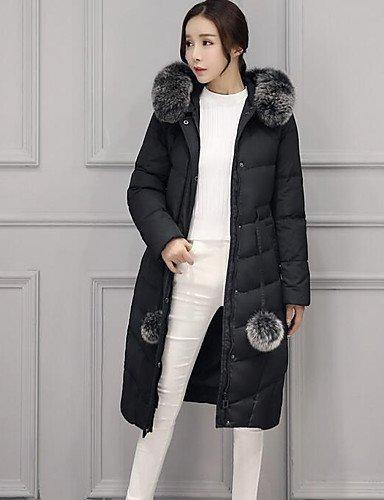 YYYURONG TT & ShangYi Standard relleno de mujer, Abrigo moda ciudad para USCIRE tinta unita otro polipropileno manga larga, XL