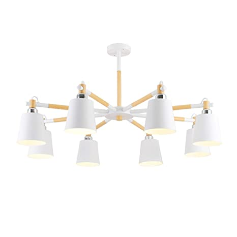 SPA Luz de techo Minimalismo moderno Estilo madera 8 luces ...
