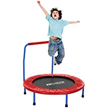 """ANCHEER Portable Foldable 36"""" Mini Rebounder Trampoline with Handle for Kids Age 3+"""