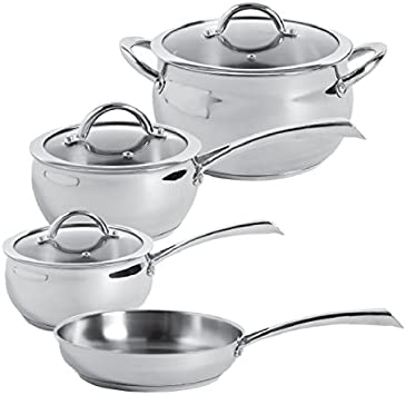 Oster 104392.07 Derrick 7 Piece Cookware Set, Stainless Steel