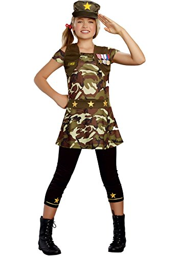 sc 1 st  Funtober & Army Costumes for Girls - Funtober