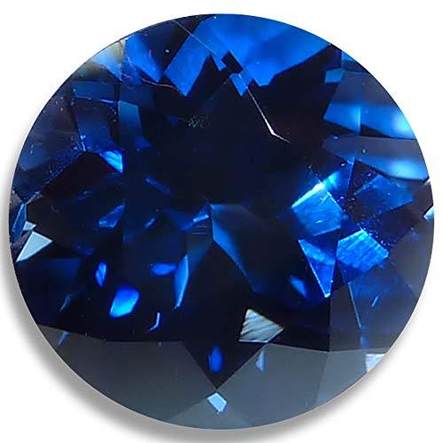 OptimaGem Lab Sapphire Round 4mm-12mm Loose Gemstones (5mm, Deep Blue)