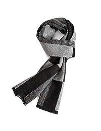 Autumn and Winter Warm Scarf,EONPOW Men's Winter Soft Warmth Plaid Scarves