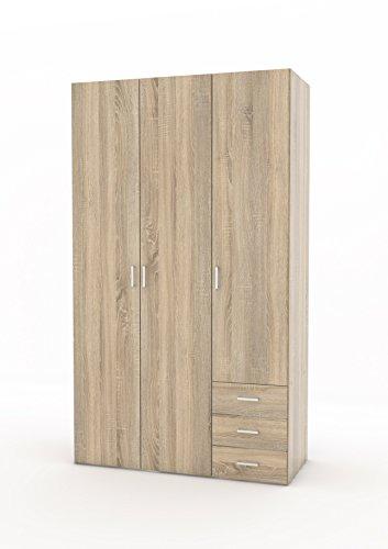 Door 3 Drawer Wardrobe - 4