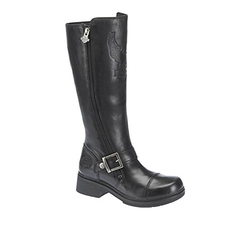 Harley-Davidson Women's Hutcheson Motorcycle Boot, Black, 9 M US - Harley Davidson Step