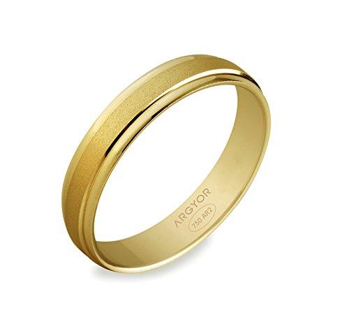 JANIS - www.diamants-perles.com - Alliance - Mariage - Or jaune 750/1000 - 18 carats - Largeur 4 mm