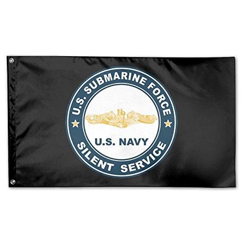 (UDSNIS US Submarine Force Silent Service Gold Dolphins Garden Flag 3 X 5 Flag For Yard Decor Banner)