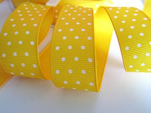 - Roll of 50 yards Swiss Polka Dot Grosgrain 7/8
