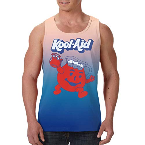Men's Athletic Jersey Kool-Aid?Man Tank Top T Shirts for Mens Youth Black -