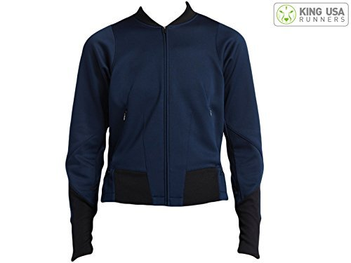 ng Jacket Obsidian/Black 747373-452 (S) (Nike Classic Training Jacket)