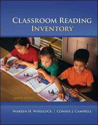 Classroom Reading Inventory Classroom Reading Inventory