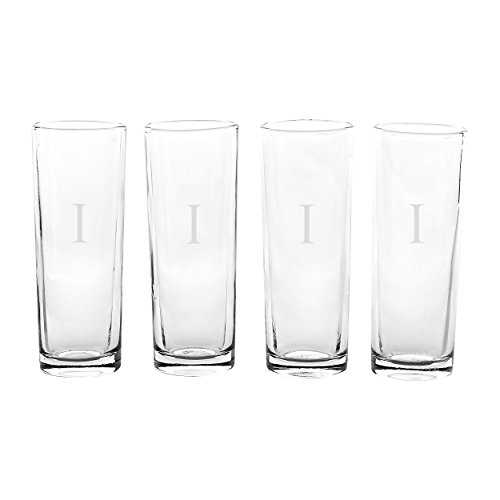 Cathy's Concepts Personalized Island Shooter Glasses, Set of 4, Letter I
