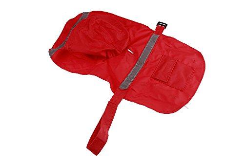 Size XS Red Color Pet Apparel Dog Clothes Dog Raincoat Pet Jacket Rain Pet Waterproof Coat Dog hoodies clothing by Wonder Pet Shop (Image #3)