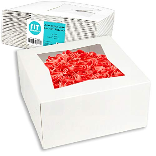 [25 Pack] Pie / Cake Box with Window 6x6x3
