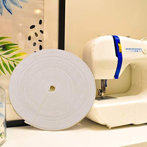 12 Yards Cotton Covered Poly Polyester Boning 12mm Polypropylene (White)