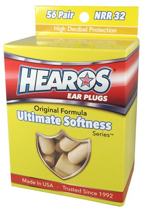 HEAROS Ultimate Softness Series Ear Plugs, Beige, 56 Pair]()