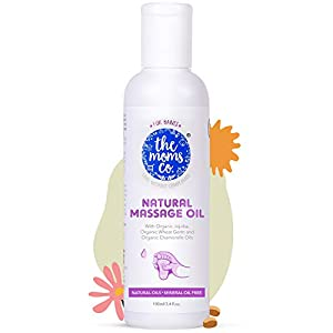 The Moms Co. Natural Baby Massage Oil with 10 Oils – Sesame Oil, Avocado, Organic Almond, Organic Jojoba, Organic…