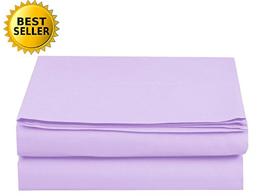 Flat 1 Twin Sheet (Elegant Comfort Luxury Flat Sheet Wrinkle-Free 1500 Thread Count Egyptian Quality 1-Piece Flat Sheet)