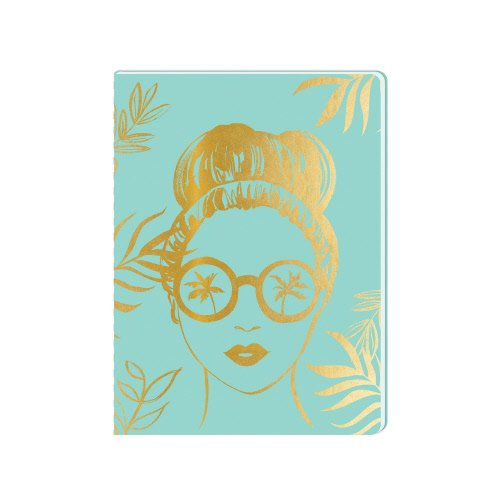 Lady Jayne PU Journal (Aqua Sunglasses - Journal Sunglasses