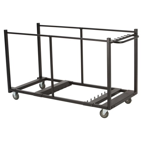 (Lifetime 80193 Table Cart with Heavy Duty Steel, Black Sand)