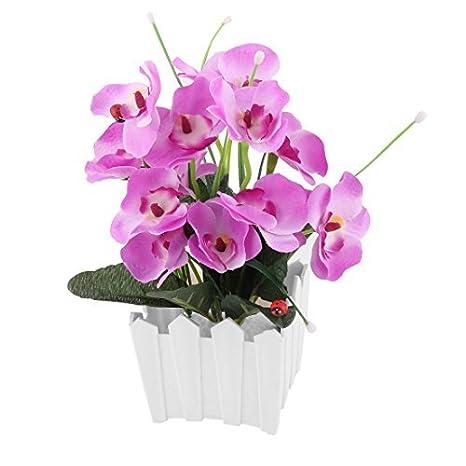 eDealMax plástico maceta de la sala de simulación de la Flor Artificial de bricolaje alféizar de