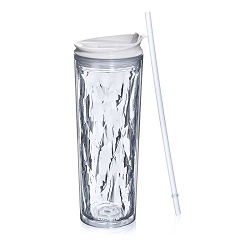 (Cupture Crystal Click & Seal Shake Tumbler Cup for Hot or Cold Drinks - 22 oz (Clear Diamond))