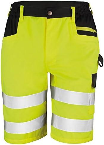 (リゾルト) Result メンズ 高視認性 夜光/蛍光/反射 ハイビズ 作業服 ショート カーゴパンツ ズボン セーフティー